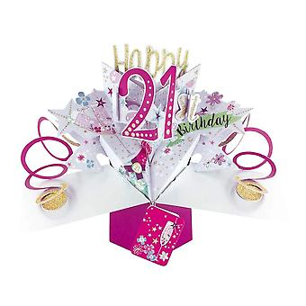 Second Nature Pop Up Champagne 3d 21st Birthday Card Pop187