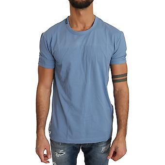 Dolce & Gabbana Blue Cotton Stretch Crewneck Underwear T-Shirt