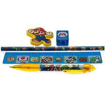 Super Mario Stationery Set (5 Pieces)