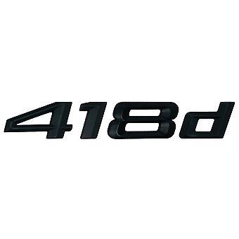 Matt Black BMW 418d Car Badge Emblem Model Numbers Letters For 4 Series F32 F33 F36 G22 G23 G26