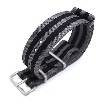 Strapcode n.a.t.o ووتش strapmiltat 21mm g10 ساعة حزام النايلون الباليستية حزام سميكة اضافية الذراع - شرائط رمادية وسوداء، والأجهزة نحى