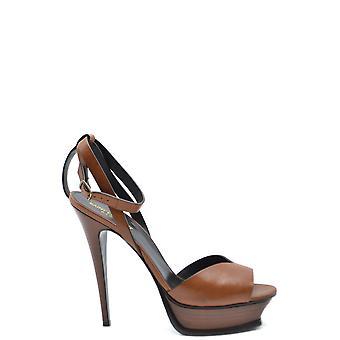 Saint Laurent Ezbc022034 Women's Brown Leather Sandals