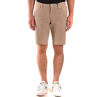 Jeckerson Ezbc069043 Men's Beige Cotton Shorts