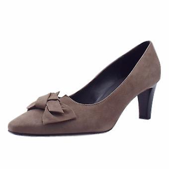 Peter Kaiser Mallory Mid Heel Pointed Toe Court Shoes In Fur Suede