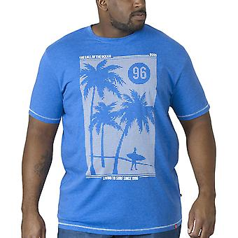 Duke D555 Mens Kansas Big Tall King Size Crew Neck T-Shirt Top Tee - Blue Marl