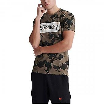 Superdry Core Logo Tag Camo AOP T-Shirt Vert 00Z