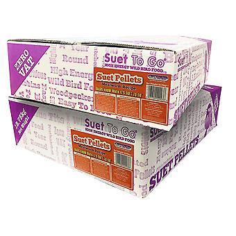 25.5kg suet to go high-energy mealworm suet pellets