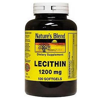 Nature's blend lecithin, 1200 mg, softgels, 100 ea