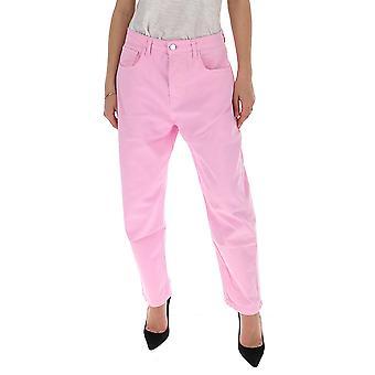 Ireneisgood Igcdp001680 Femmes-apos;s Jeans en coton rose