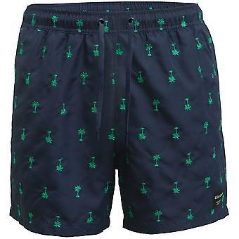 Bjorn Borg Santiago Palms Embroidery Swim Shorts, Navy