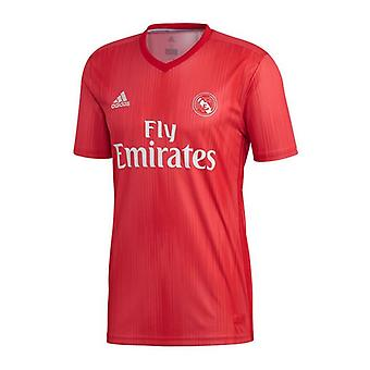 Män's Kortärmad fotbollströja Adidas Real Madrid Red 18/19 (3 )/XL