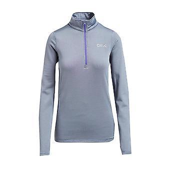 New OEX Women's Flint Half Zip Fleece Grey