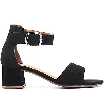 Regarde Le Ciel Leather Block Heeled Sandal