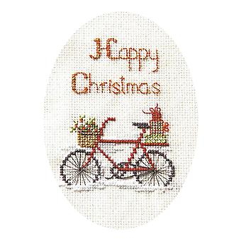 Derwentwater Designs Christmas Cross Stitch Card Kit - Christmas Delivery