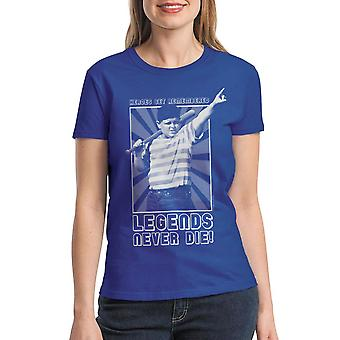 Sandlot Heroes Get Remembered Legends Never Die Ham Women's Royal Blue T-shirt
