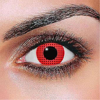 Lentile de contact cu ecran roșu
