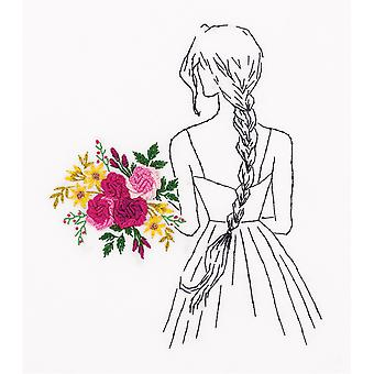 Panna Embroidery Stumpwork Kit - Girl With A Bouquet