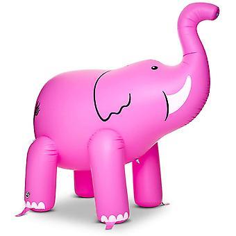 פיל מים ממטרה 2m גבוהה מתנפחים פיל מתזים ורודים עם חיבור צינור