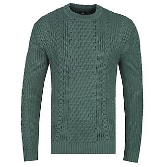 Edwin United Sycamore Green Knitted Sweater