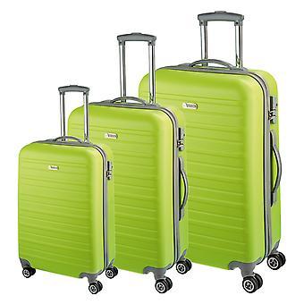 d&n Travel Line 9400 Koffer set 3-delige, groen