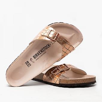 Birkenstock Madrid 1016056 (reg) Ladies One Strap Sandals Gator Gleam Rame