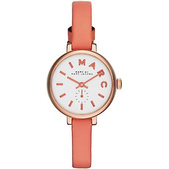 Marc Jacobs MBM1355 Sally Pearlized Spring Peach Leather Ladies Watch