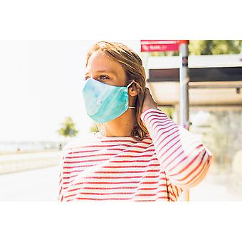 Non-Medical Face Mask | 2. Ocean Flow - S ( fits most young kids, teenagers, adults up to 165 cm )