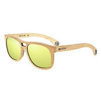 Earth Wood Las Islas Polarized Sunglasses - Maple/Celeste-Yellow