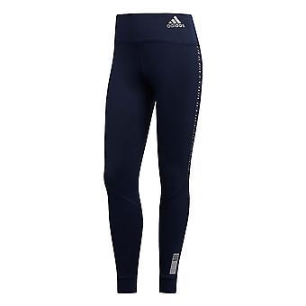 adidas Own The Run Womens Ladies Running Fitness Gym Legging Tight Navy Blue