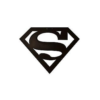 Superman Dekoracja ścienna Czarny kolor metalowy 40x0.15x31 cm