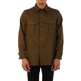 Loewe H526337x914430 Men'camisa de algodão verde
