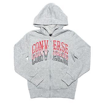 Boy's Converse Junior Collegiate Repeat Zip Hoody in Grey