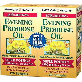 American Health Royal Brittany Evening Primrose Oil 1300mg Soft Gels 240 ct