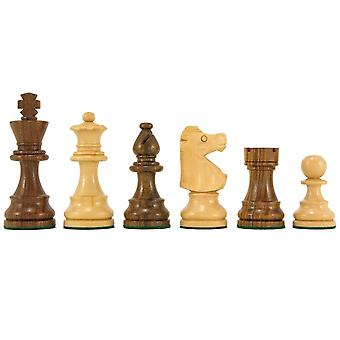French Knight Series Golden Rosewood Chess Pieces 3.25 Inches