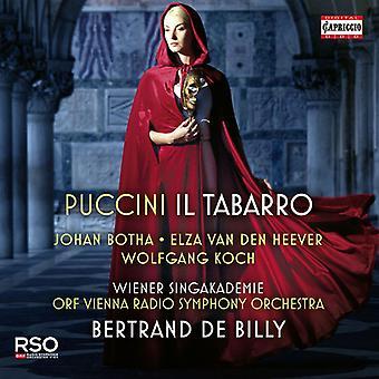 Puccini / Botha / Koch - Il Tabarro [CD] USA import