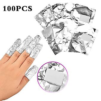 Aluminium Foil Nail Art Soak Off Acrylic Gel - Nail Polish Removal Wraps