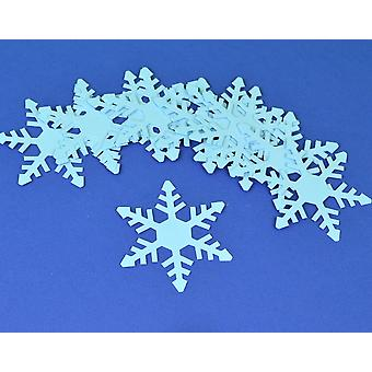 15 Blue Christmas Snowflake Card Shapes for Crafts - Style 2