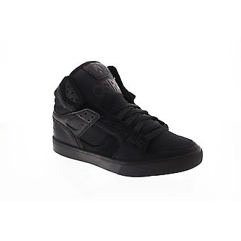 Osiris The Clone  Mens Black Leather High Top Athletic Surf Skate Shoes