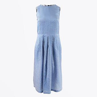 PS Paul Smith  - Sleeveless Checked Dress - Blue/White