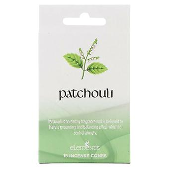 Elements Patchouli Incense Cones (Box Of 12 Packs)