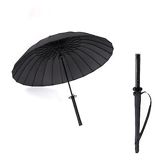 Long Handle Large Windproof Samurai Sword Umbrella - Sun Rain Straight Umbrella Manual Open