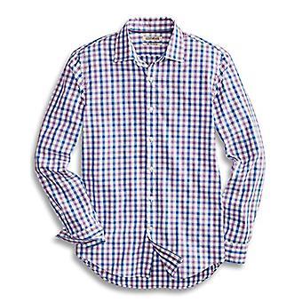 Goodthreads Män & apos; s Slim-Fit långärmad Gingham Plaid Poplin Shirt, Lila / Blå, XX-Large