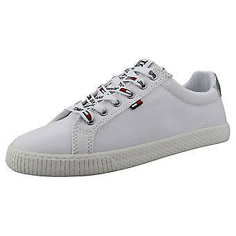 Tommy Jeans Casual Sneaker Womens Casual Trainers in White