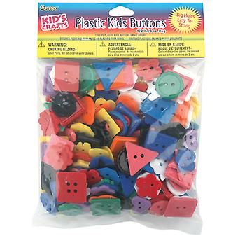 Darice Plastic Kids Buttons .5lb-Assorted