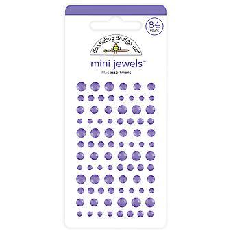 Doodlebug Design Lilac Mini Jewels (84pcs) (6722)