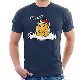 Gudetama Weihnachten Hut sitzen Ei Männer's T-Shirt