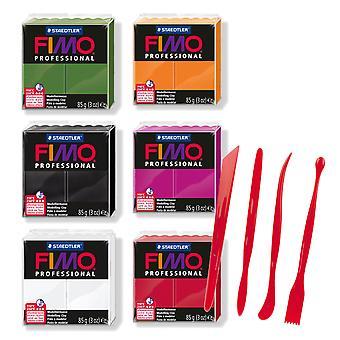 Fimo Professional Polymeeri Clay Halloween Värit 57g ja Clay Työkalut Set