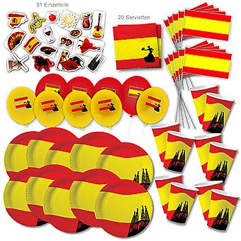 Spanje Party Set XL 110-stuk voor 10 gasten Party SpainParty Espana Verjaardag Decoratie Party Pakket