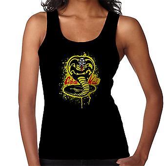 Golpear primero Cobra Kai serpiente logo mujeres's chaleco