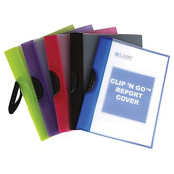 Clip 'N Go Report Cover (Color May Vary) (Set Of 12 Covers)